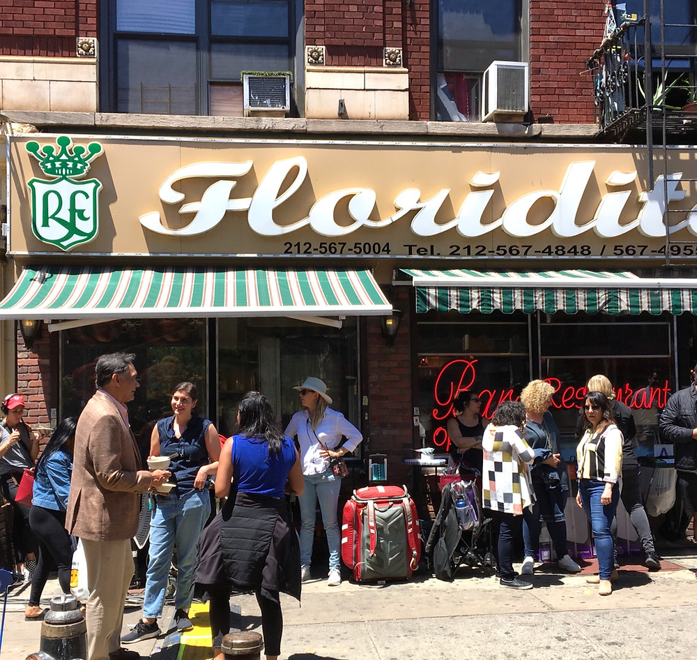 The cast and crew of 'In the Heights' outside Floridita restaurant in Inwood