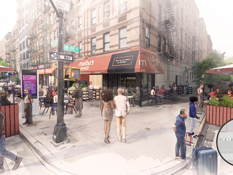 A designer's reimagined version of Melba's in Harlem expands outdoor seating onto city streets