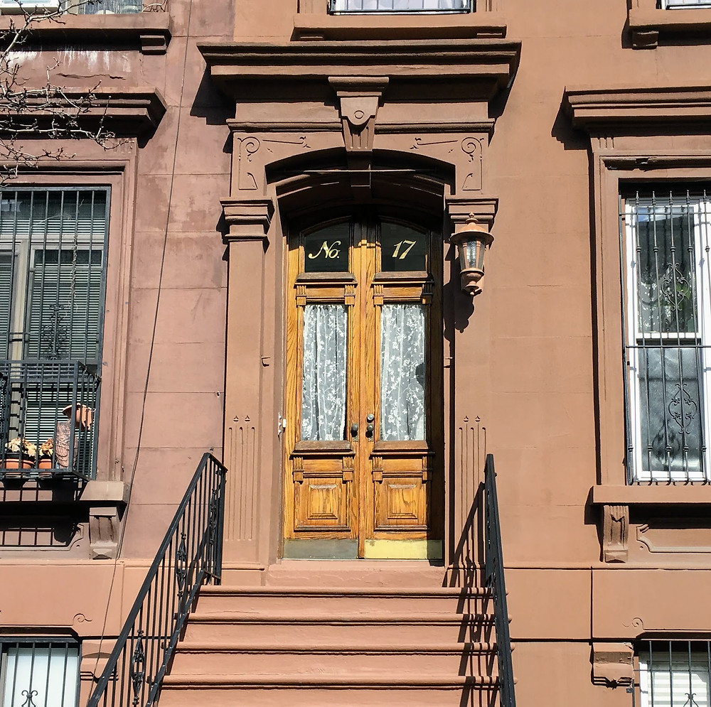 "17 E 126th Street, the brownstone where ""A Great Day in Harlem"" was taken"