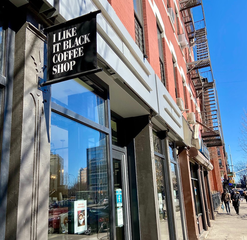 I Like It Black, a new Harlem coffee shop from the Make My Cake team, opens at 409 W 125th Street