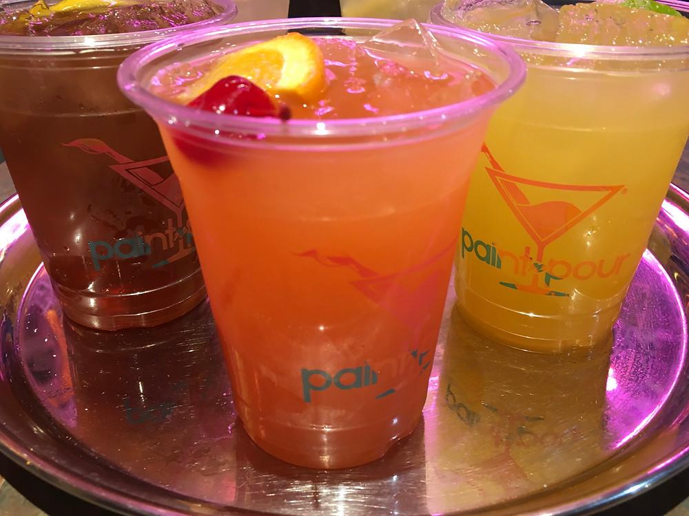 Fruity cocktails at Harlem's Paint N Pour