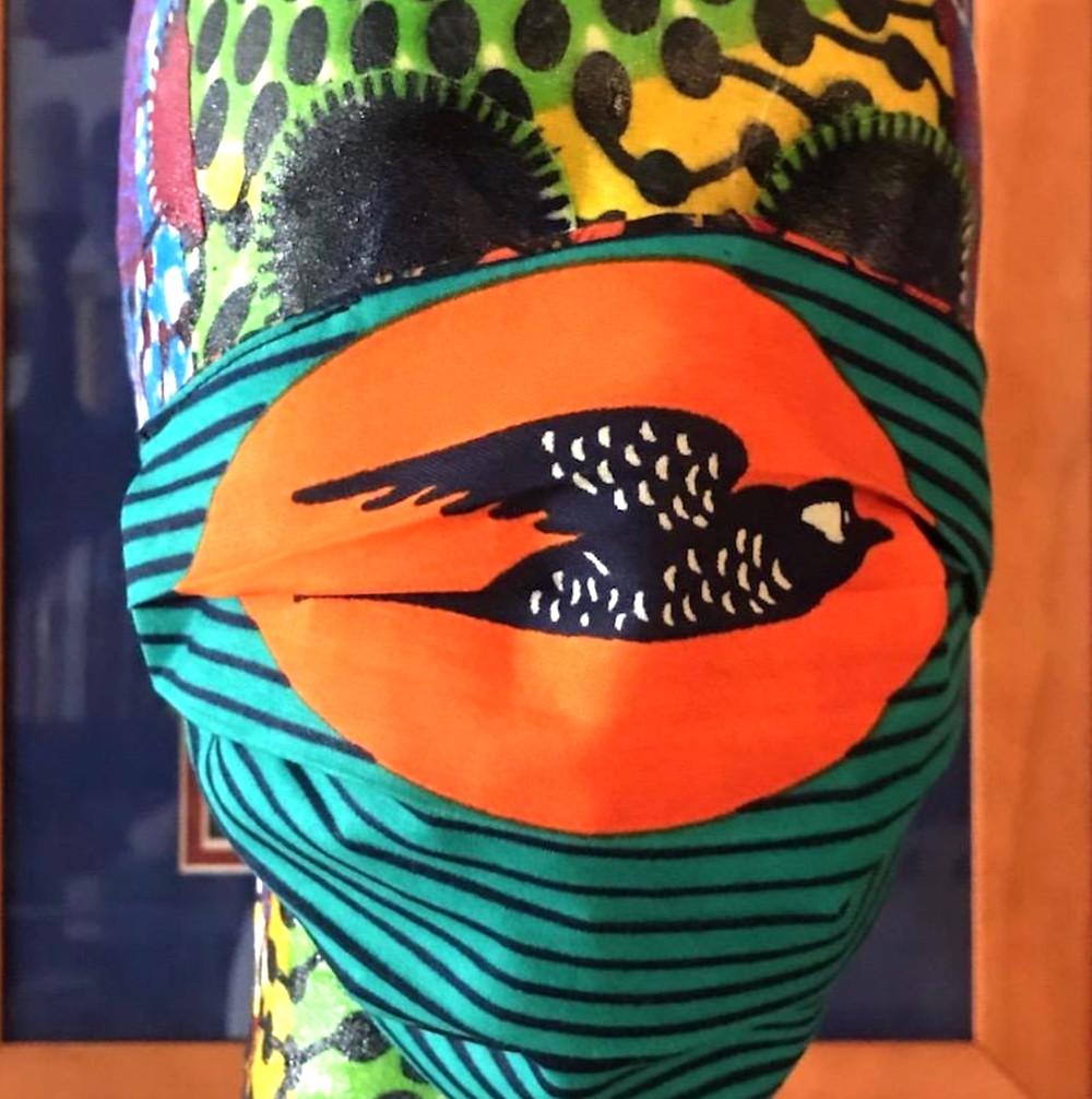 Harlem designer Junny makes vibrant face masks