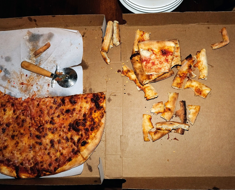 Leftover crust after The Curious Uptowner pizza taste-off