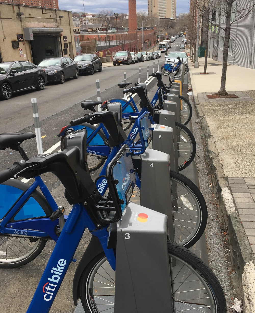 A Citi Bike Station in West Harlem
