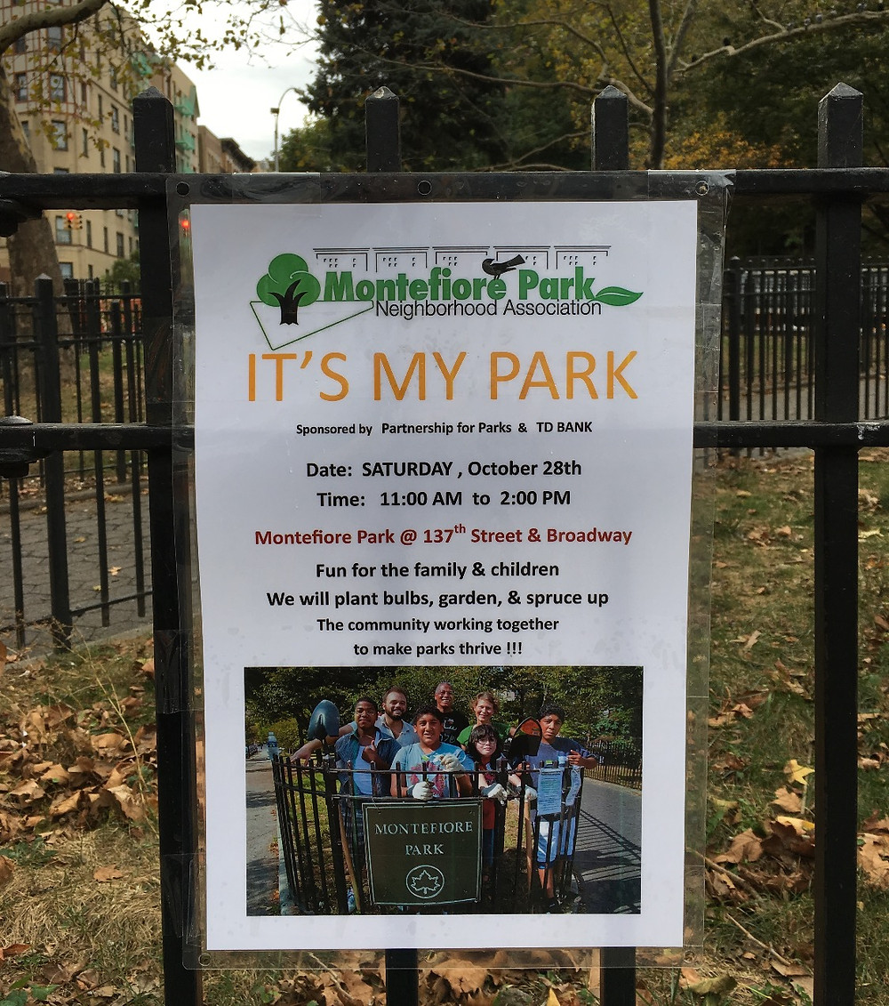 Montefiore Park It's My Park