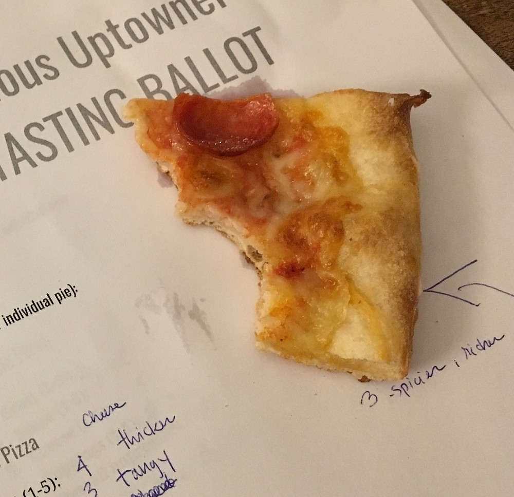 The Curious Uptowner Pizza Tasting Ballot