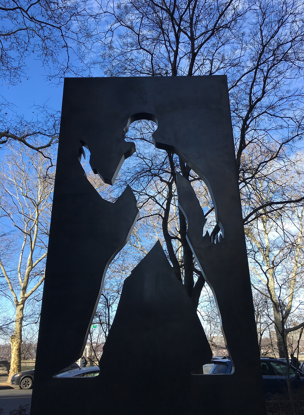 Ralph Ellison Memorial on Riverside Drive in Harlem