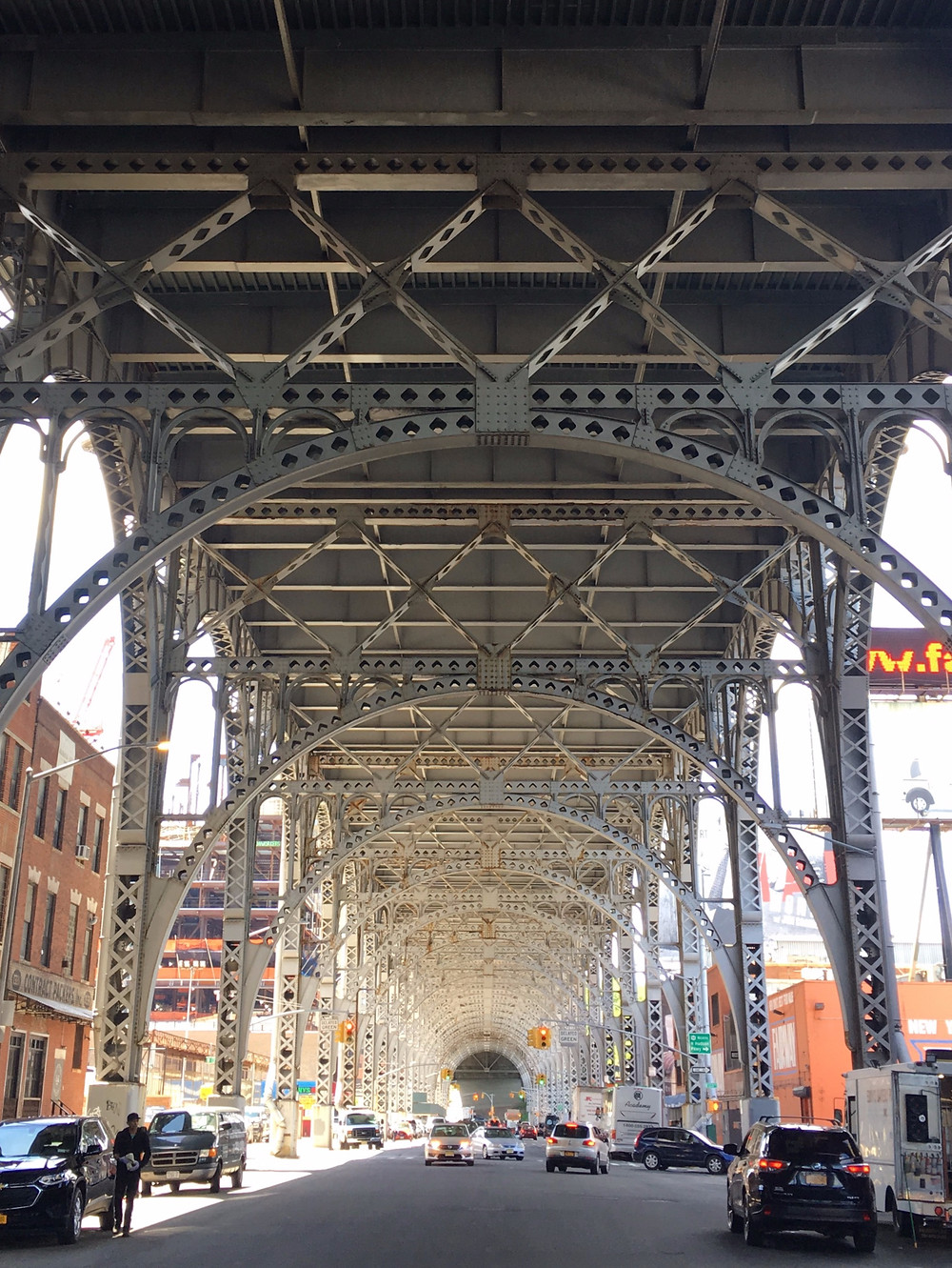 Under the viaduct in Harlem, one of the most Instagrammed spots in Harlem