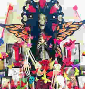 Artist Tlisza Jaurique's altar at El Museo del Barrio
