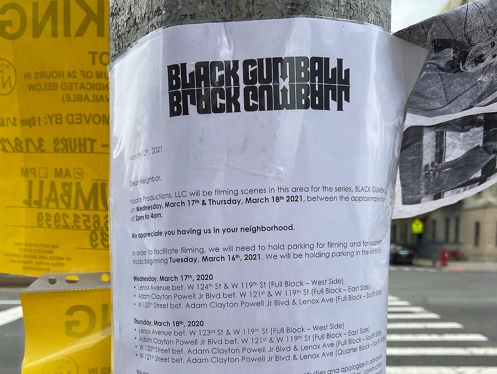 Season 2 of 'Russian Doll' aka Black Gumball is spotted filming in Harlem