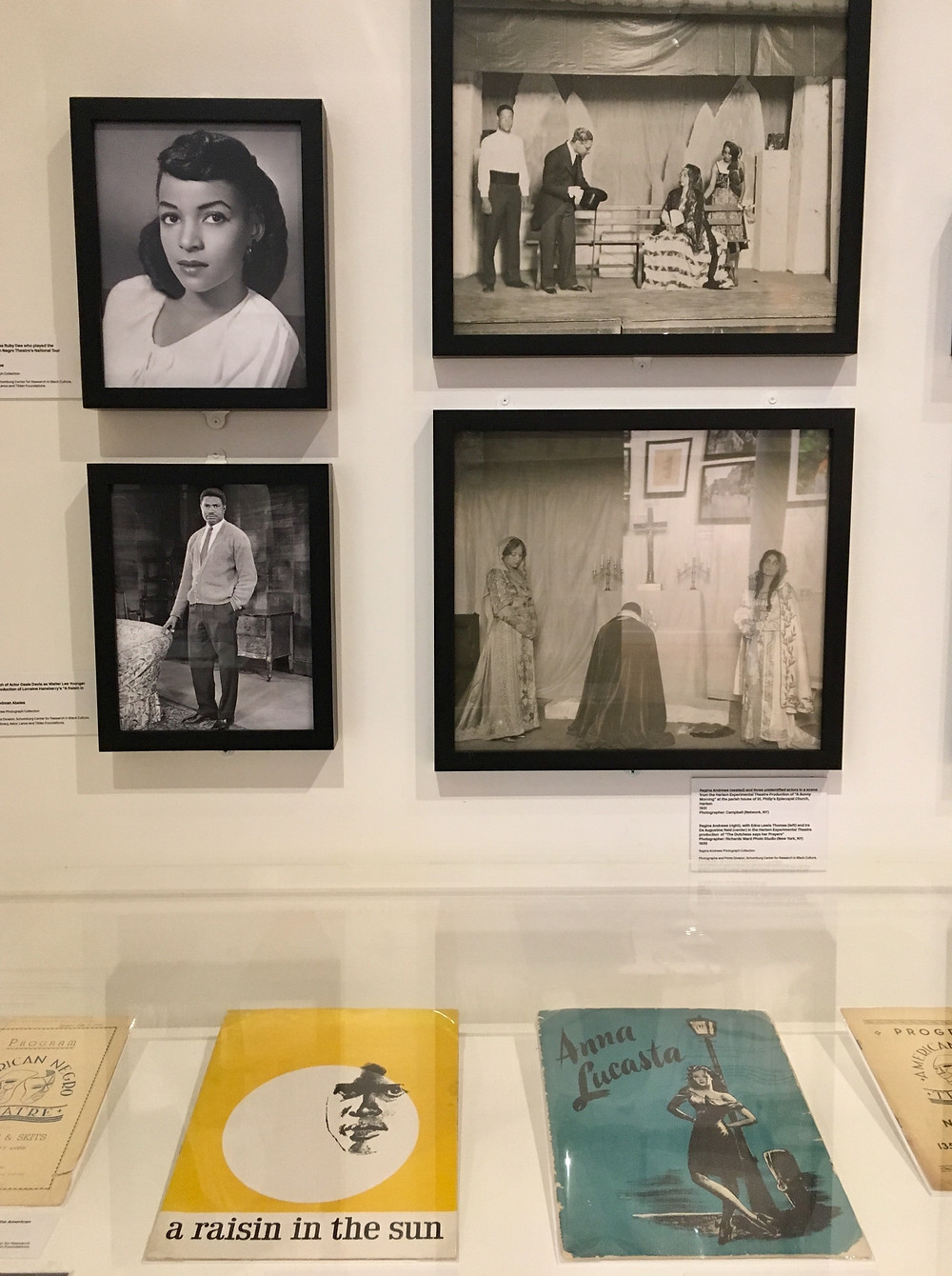 """An assortment of vintage photos, letters and more from Ruby Dee and Ossie Davis on display in """"A Ballad for Harlem"""" at the Schomburg Center"""
