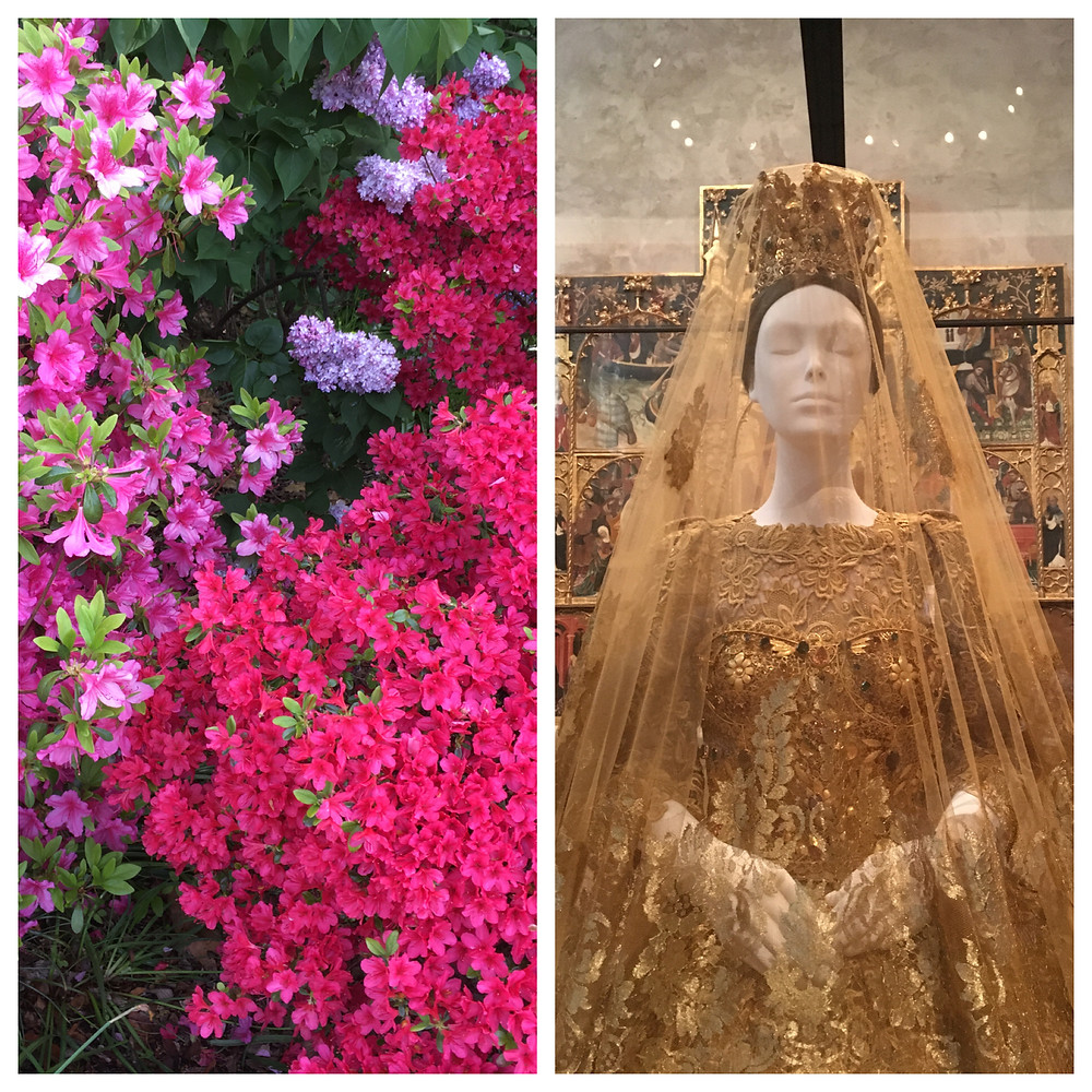 """Blooming azaleas at Fort Tryon Park and """"Heavenly Bodies"""" at The Met Cloisters"""