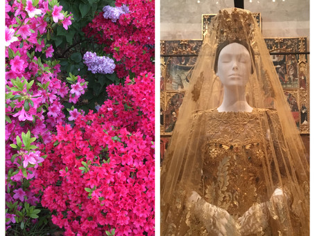 "Mother's Day Double Date: ""Heavenly Bodies"" at the Met Cloisters + the Heather Garden"