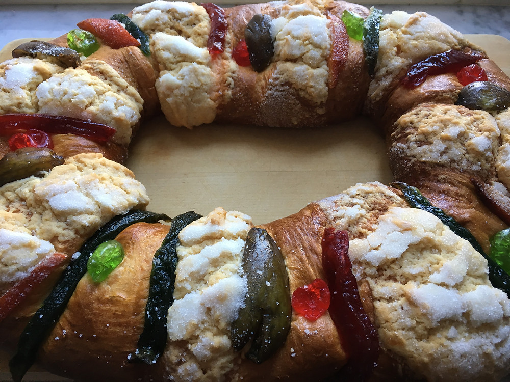 A rosca de reyes from Don Paco Lopez bakery