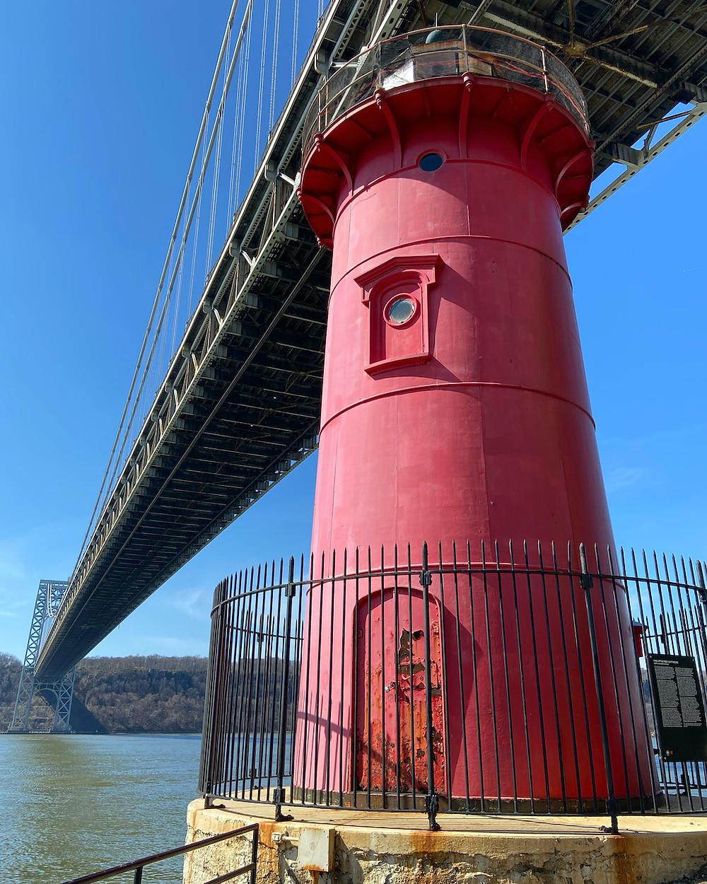 The Little Red Lighthouse under the George Washington Bridge