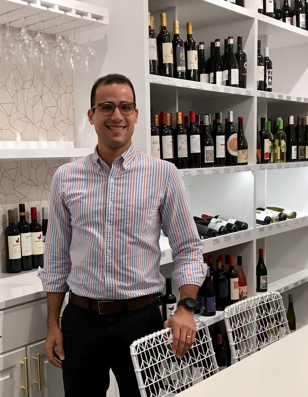 Leonel Arias is the owner of a modern new wine store on Amsterdam Avenue near City College