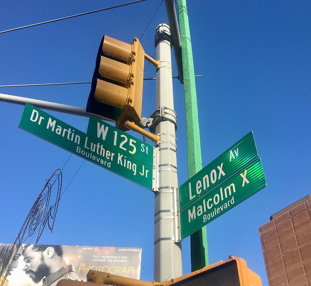 The corner of 125th Street and Lenox Avenue/Malcolm X Boulevard