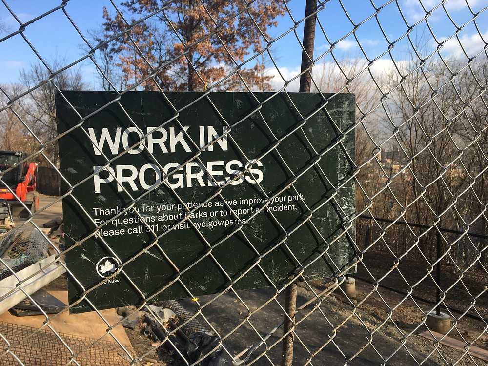 Renovation to the St. Nicholas Park Dog Run are finishing up
