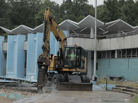 Work Has Finally Begun on the New Pool and Rink Facility Coming to the Harlem Meer in Central Park