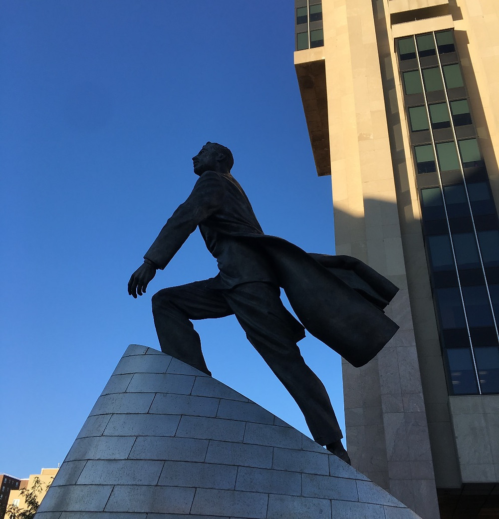 Adam Clayton Powell Jr sculpture in Harlem