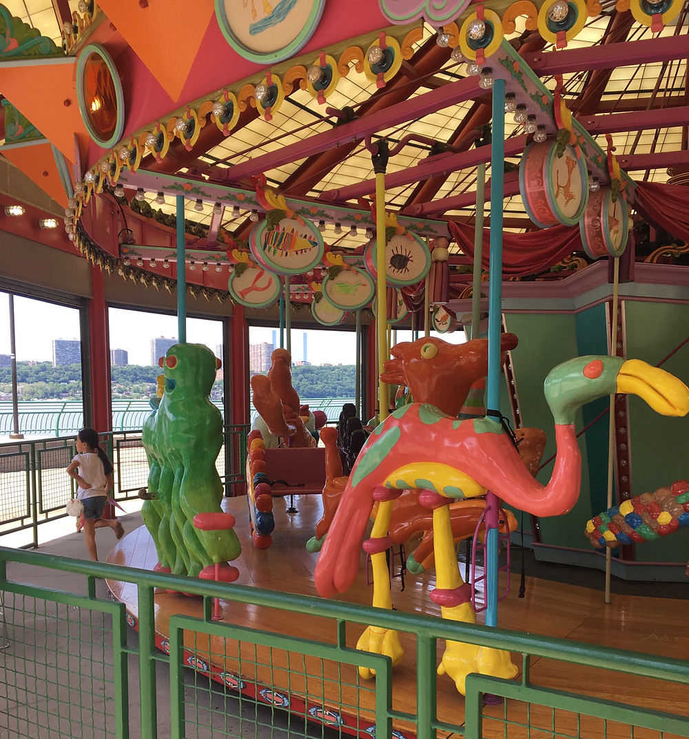 The summer schedule for the Totally Kid Carousel in Riverside Park