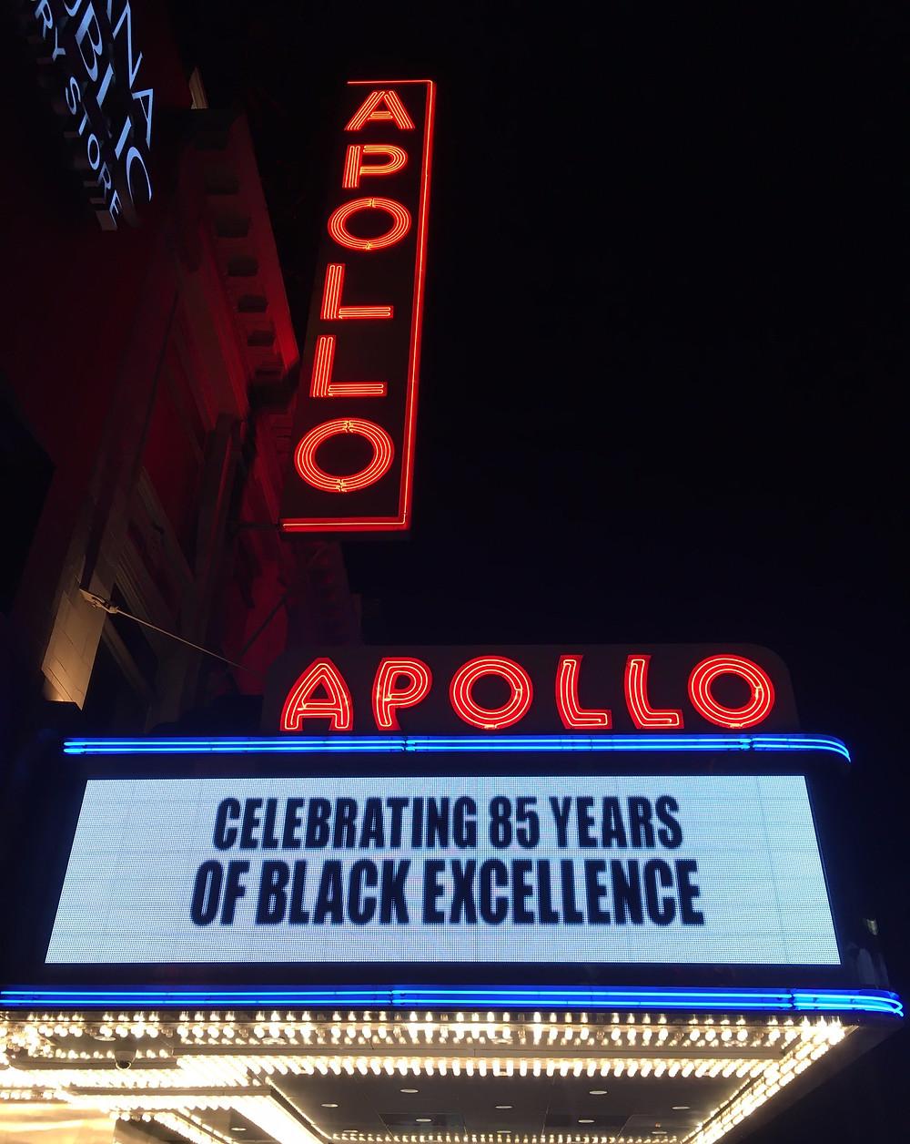 The Apollo's famous neon sign