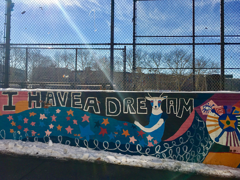I Have a Dream mural in Hamilton Heights