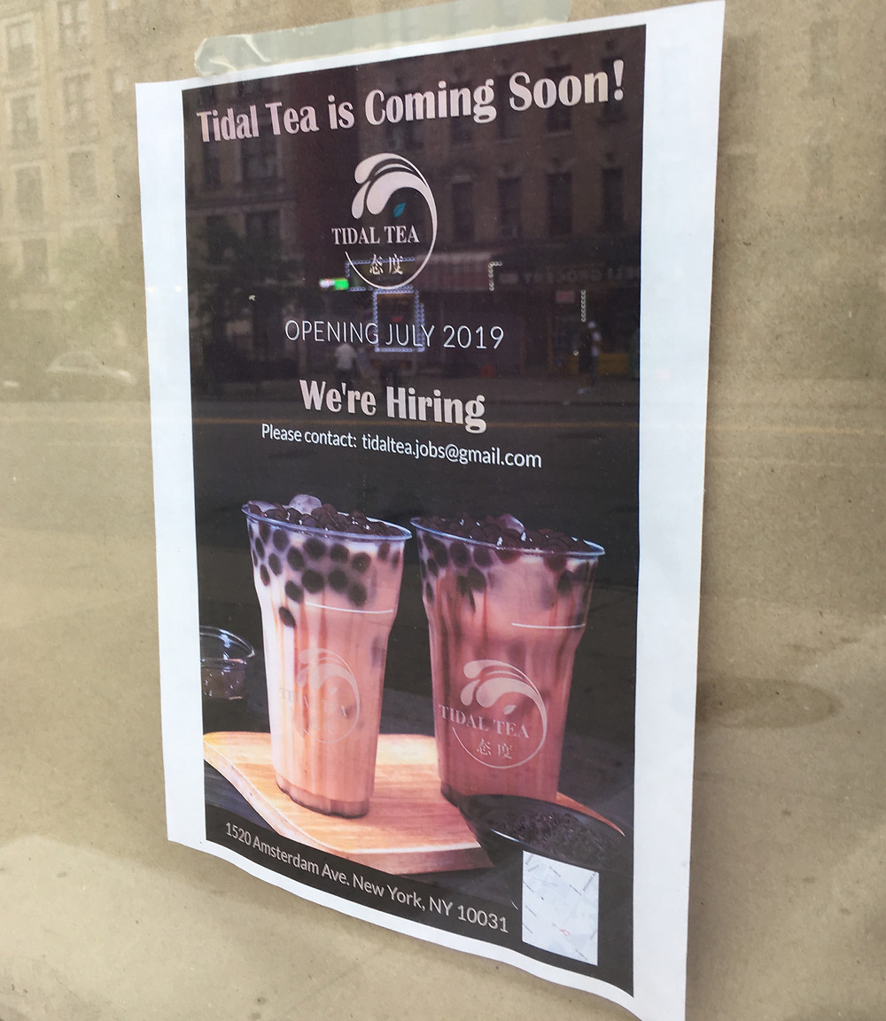 Bubble tea spot Tidal Tea is coming to Hamilton Heights