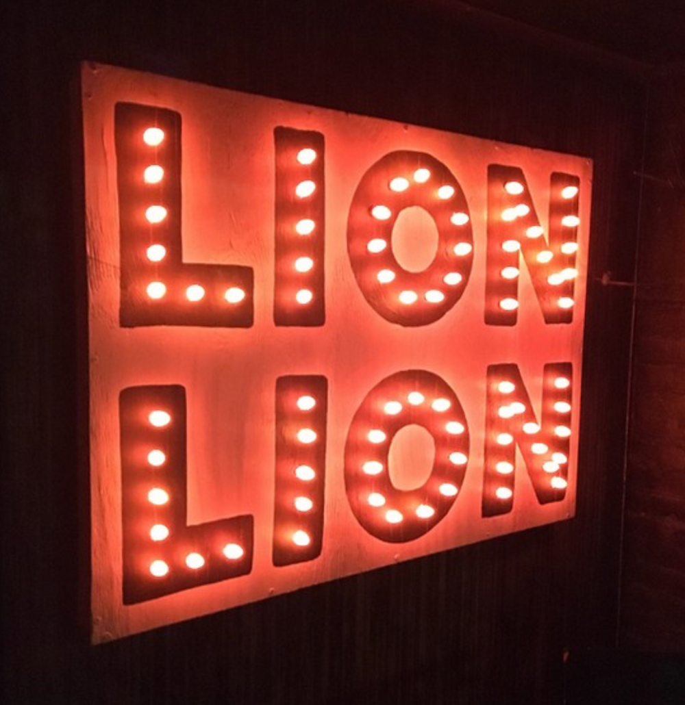 Lion Lion's bulb sign beckons