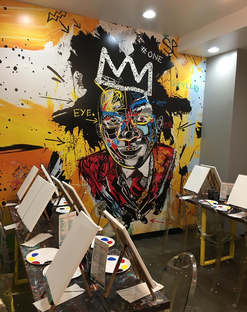 The Basquiat Studio at Harlem's Paint N Pour