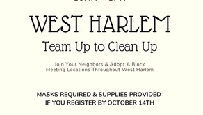 West Harlem group plans massive clean-up event on October 24 (and still needs your help)