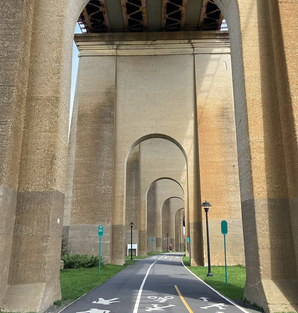 The arches of the Hell Gate Pathway on Randall's Island