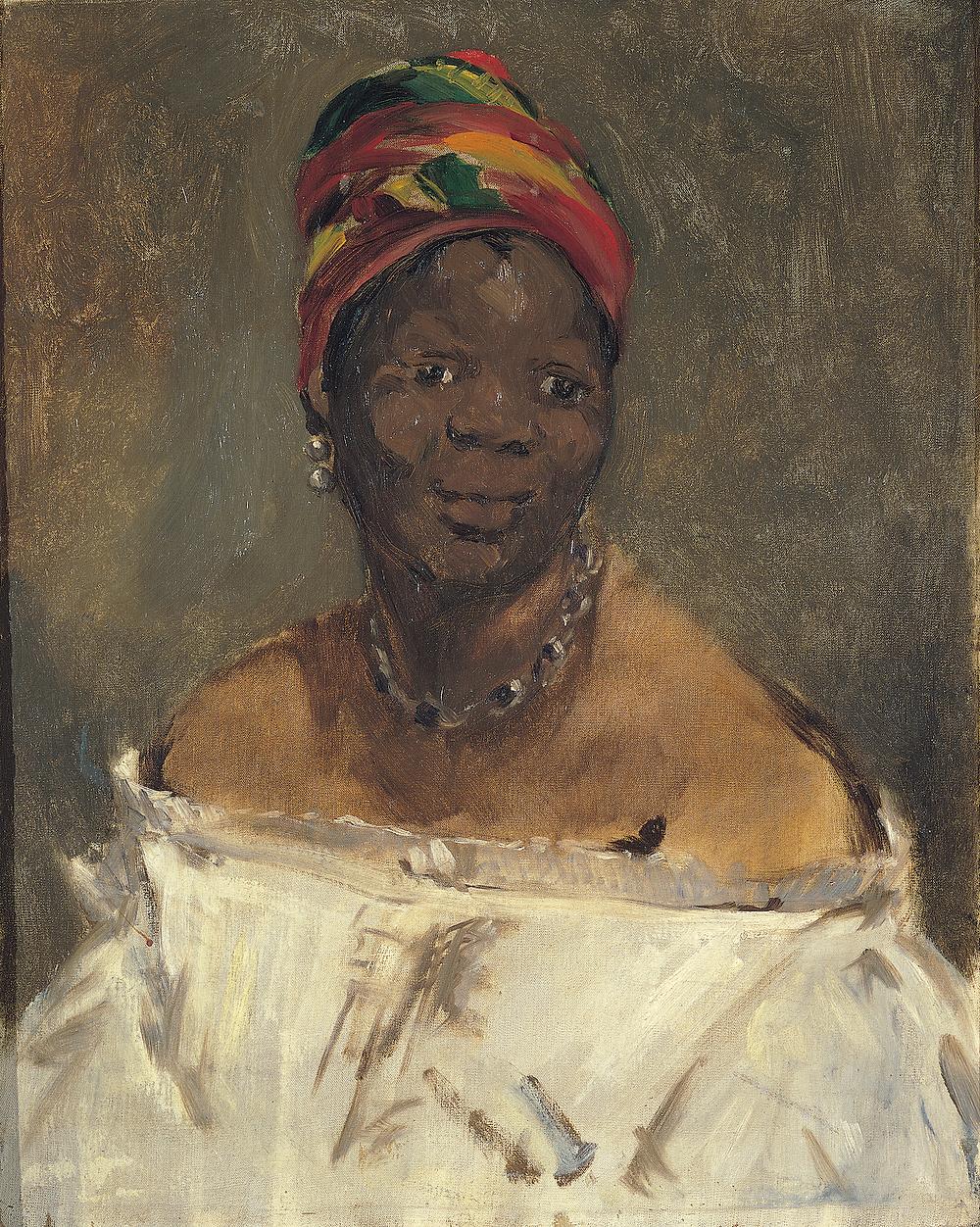 Édouard Manet, La négresse (Portrait of Laure), on view at the Wallach Art Gallery