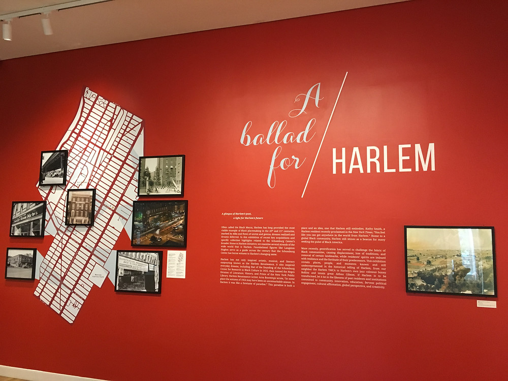 "The exhibit ""A Ballad for Harlem"" at the Schomburg Center is free to all visitors"