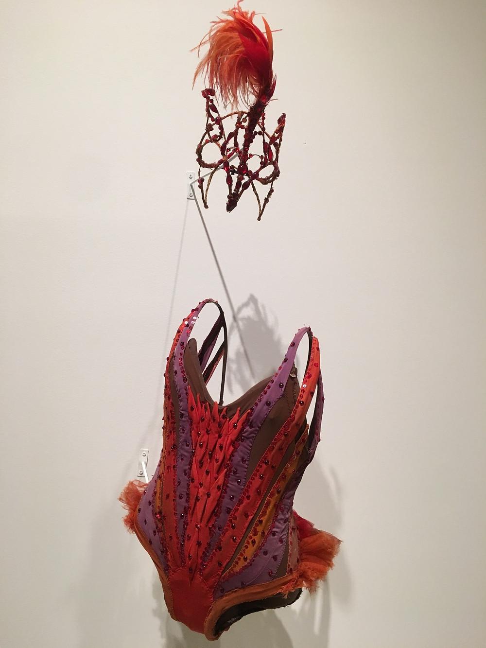 "Firebird costume at ""Arthur Mitchell: Harlem's Ballet Trailblazer"""