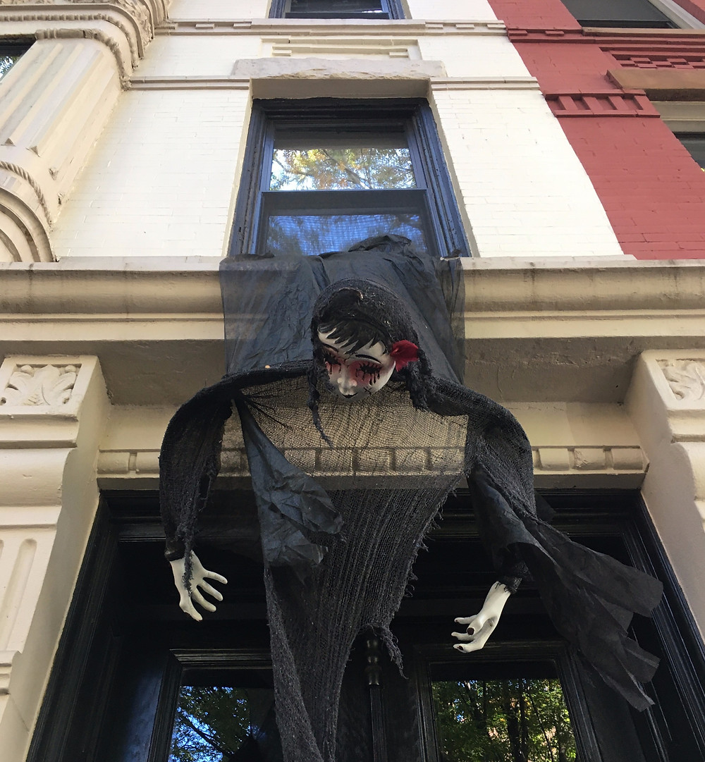 A ghoul hangs on Hamilton Terrace