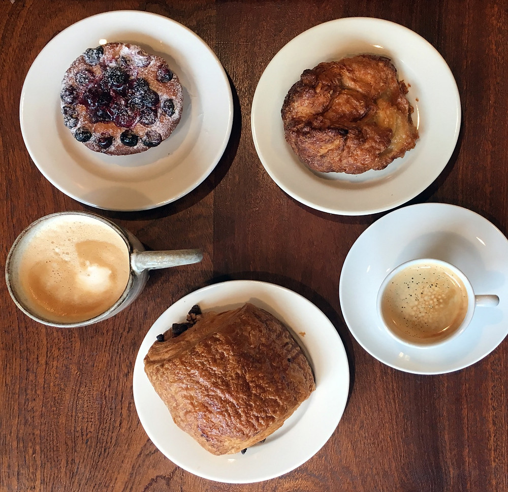 Coffee and pastries at Choc NYC