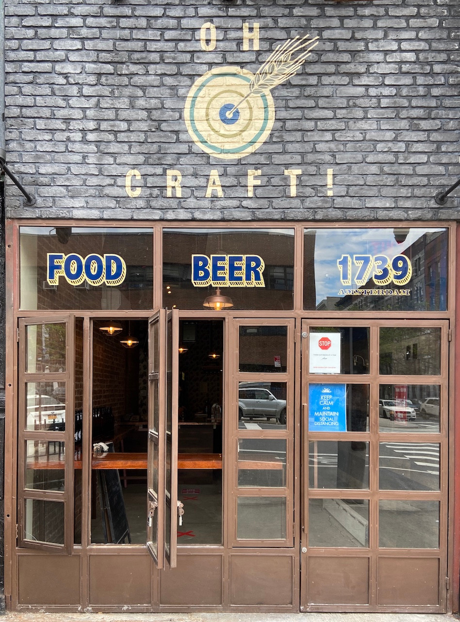 Oh Craft!, Harlem's newest beer bar, opens during the lockdown