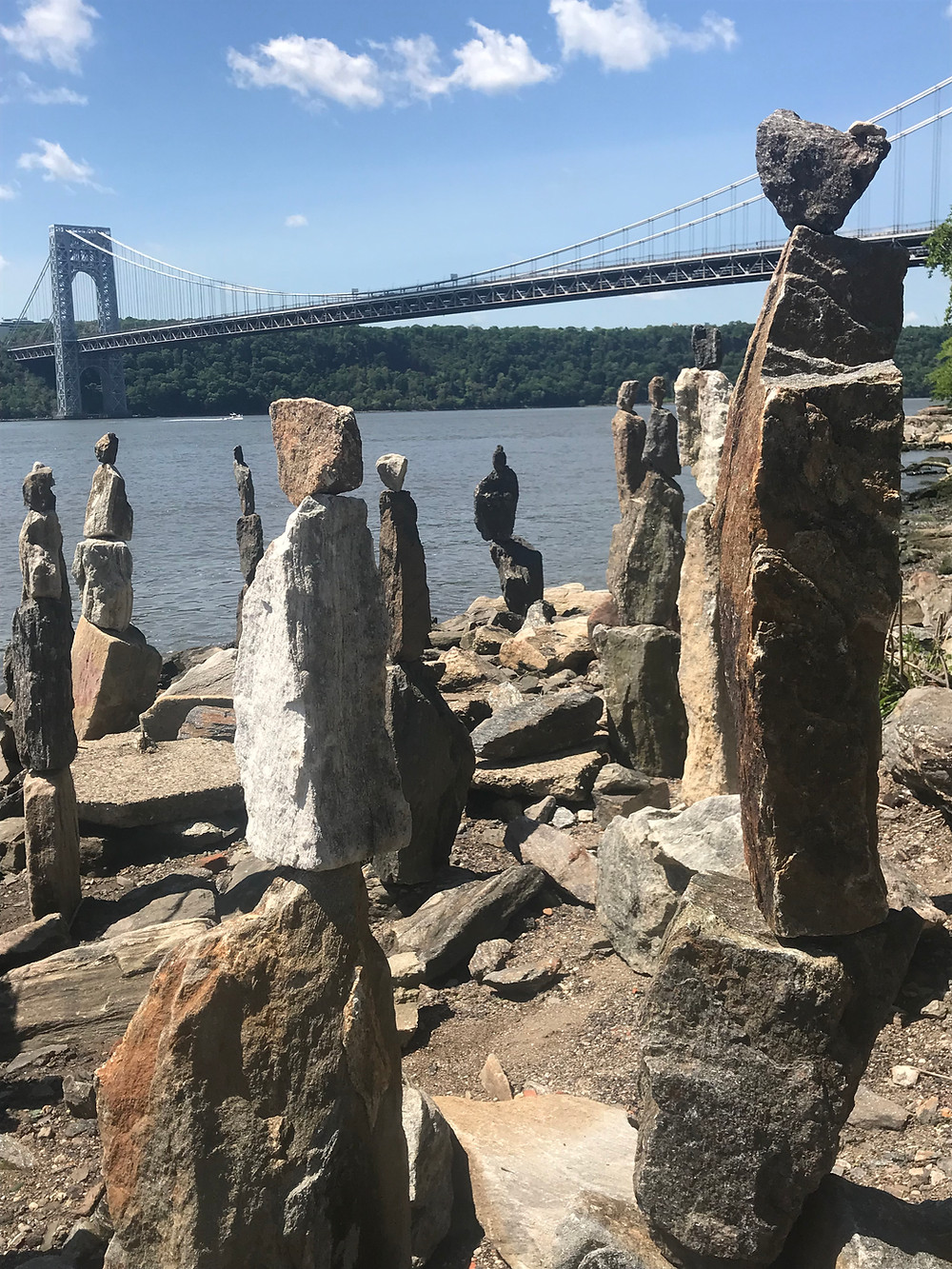 The Sisyphus Stones by the banks of the Hudson River