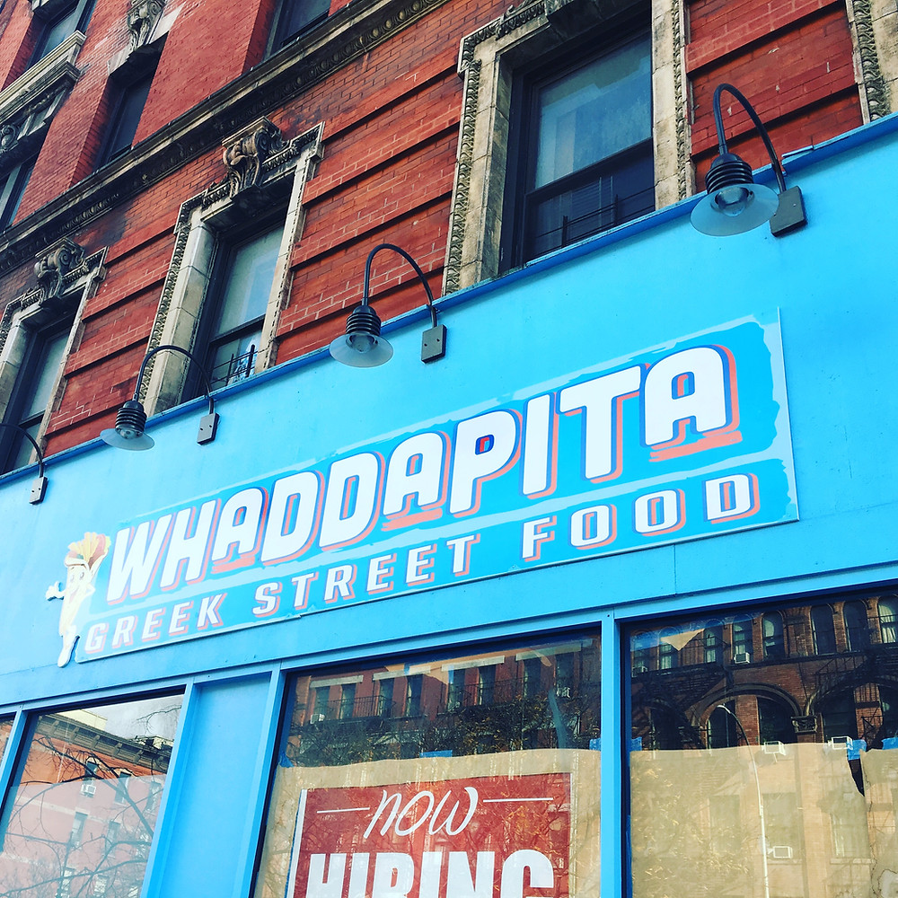 Whaddapita in Hamilton Heights will serve Greek street food when it opens