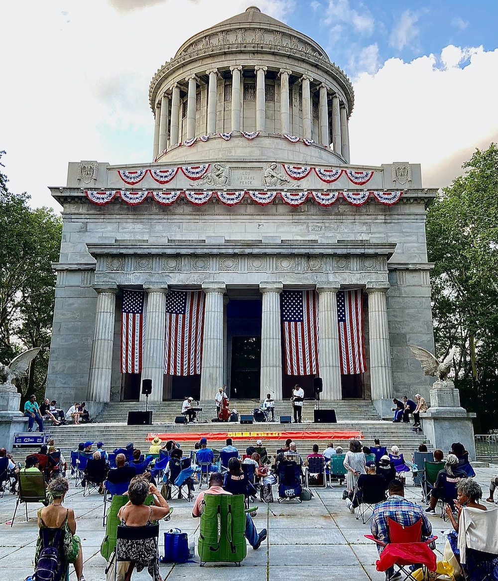 Jazzmobile's free jazz concerts are every Wednesday in front of Grant's Tomb