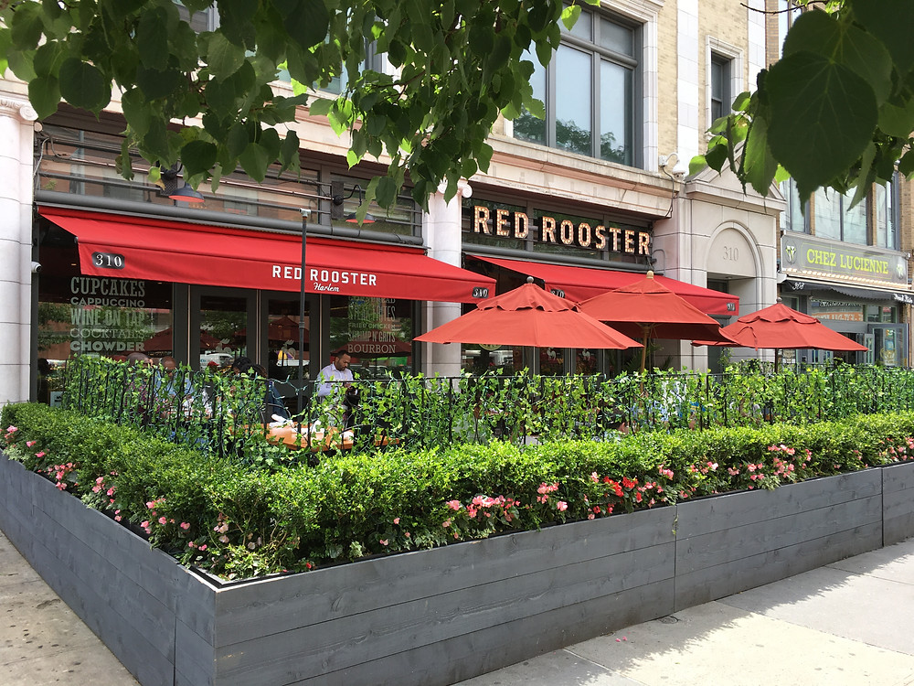 Lenox Avenue's restaurants with sidewalk seating offer some of the best outdoor dining in the city