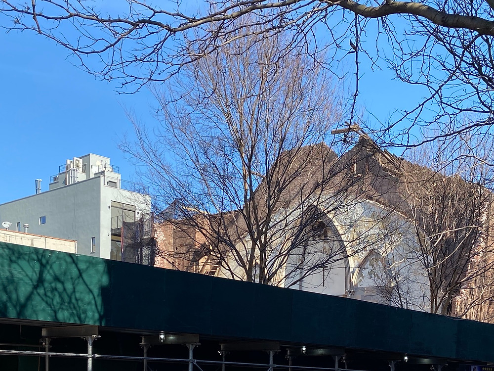 Harlem's Metropolitan Community United Methodist Church is now rubble