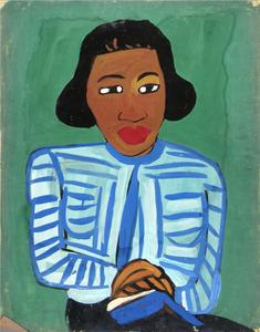 "Harlem Renaissance artist William H. Johnson's portrait will be at ""Posing Modernity"""