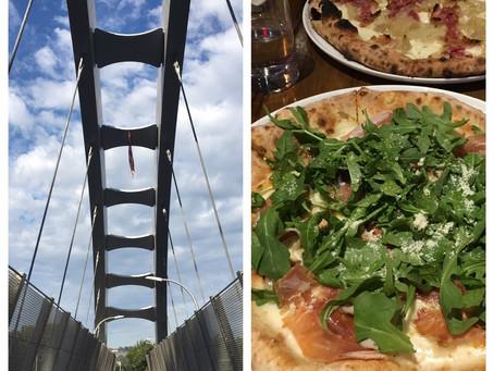 Uptown double date: 151st Street pedestrian bridge + Bono Trattoria