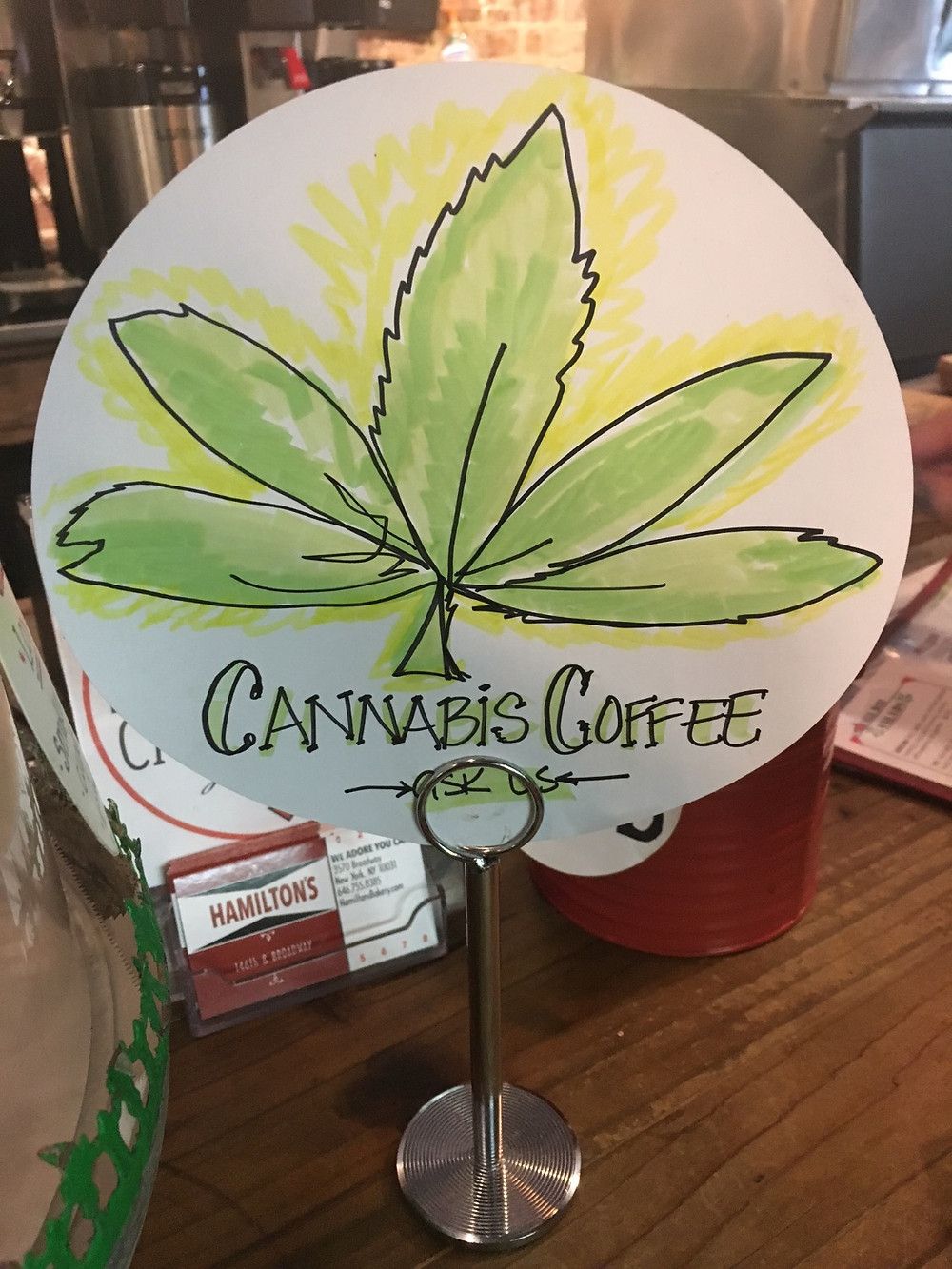 Cannabis coffee at Hamilton's in Harlem