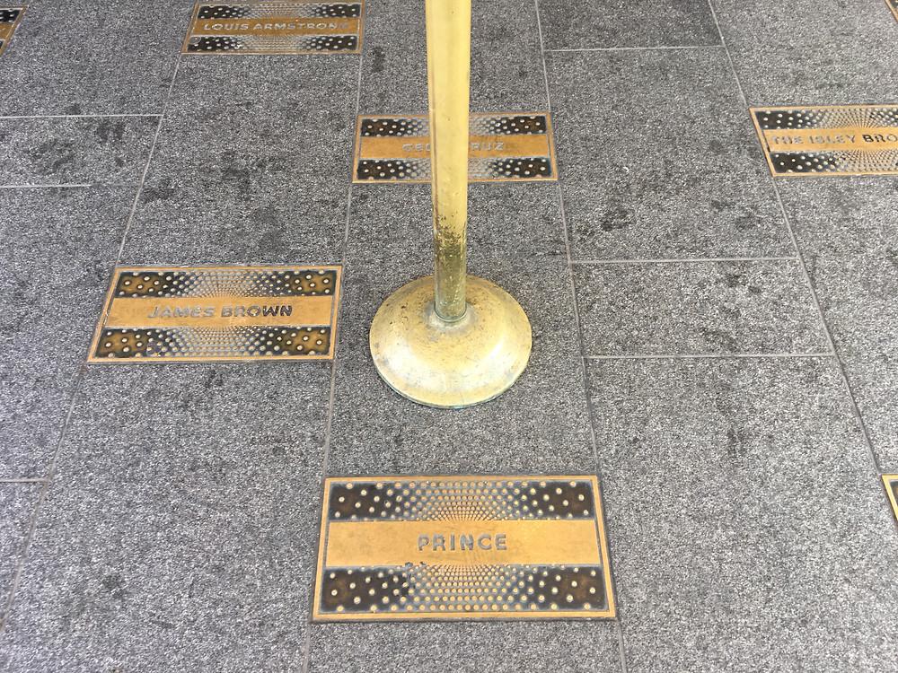Prince on the Apollo Walk of Fame