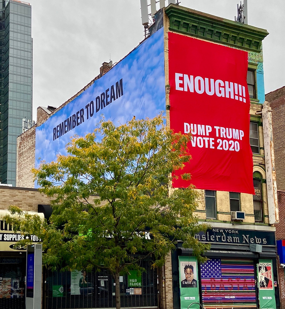 Dump Trump art in Harlem by Carrie Mae Weems, Shepard Fairey and more.