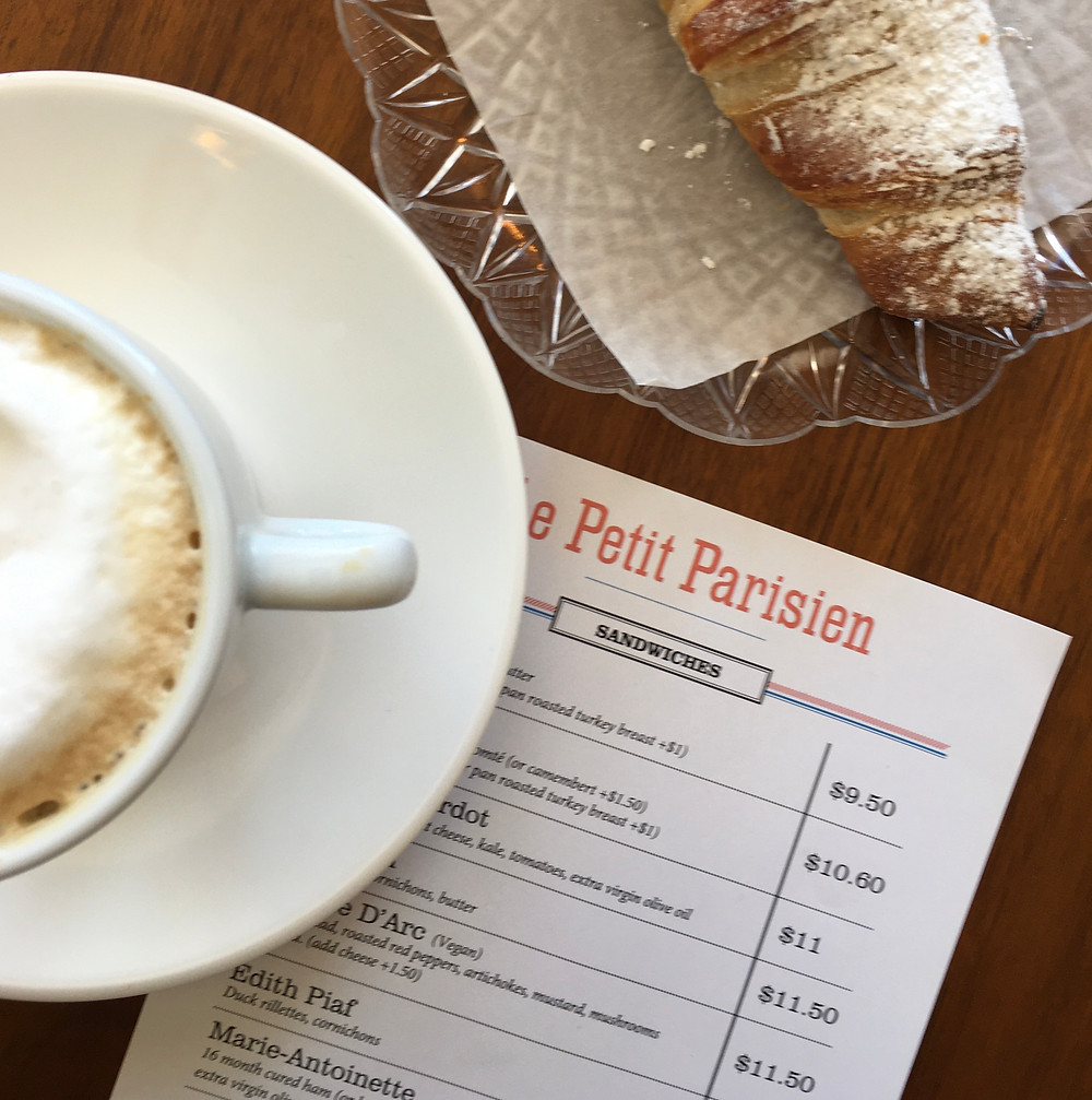Le Petit Parisien in Harlem also serves croissants and coffee
