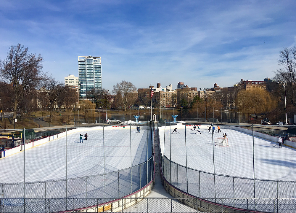 Lasker Rink is on the northern edge of Central Park